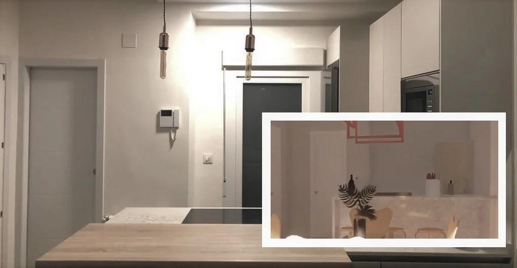 Un apartamento de 40 metros optimizados en Retiro